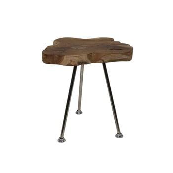 Măsuță auxiliară din lemn de tec HSM Collection Tribe, ⌀ 40 cm de la HSM collection