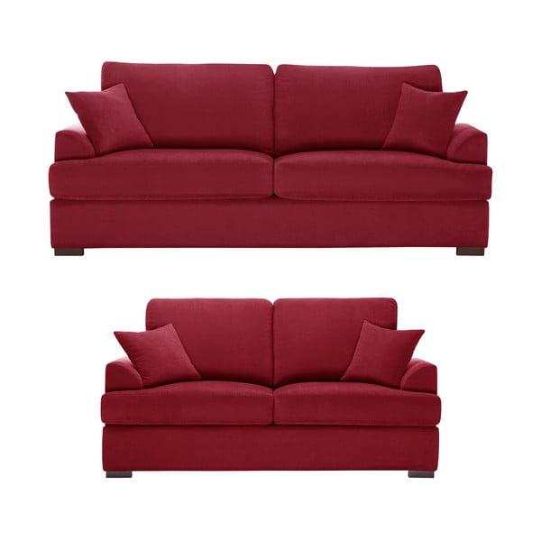 Dvoudílná sedací souprava Jalouse Maison Irina, červená