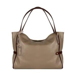 Béžová kožená kabelka Maison Bag Koraline