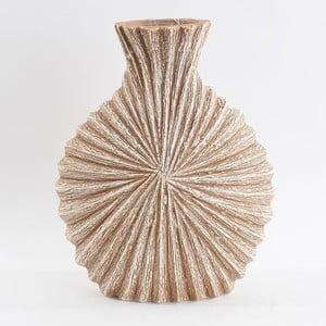 Keramická váza, béžová