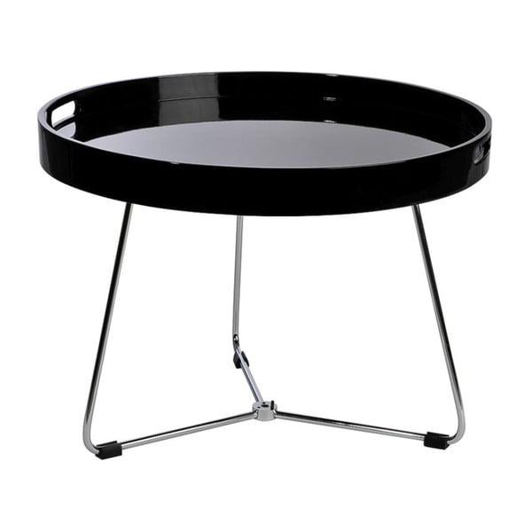 Odkládací stolek Metal Black, 60x44 cm