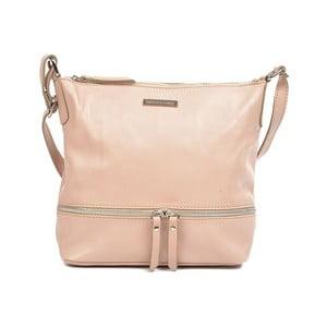 Růžová kožená kabelka Renata Corsi Bianca
