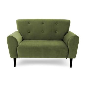Canapea cu 2 locuri Vivonita Kiara, verde măsliniu de la Vivonita