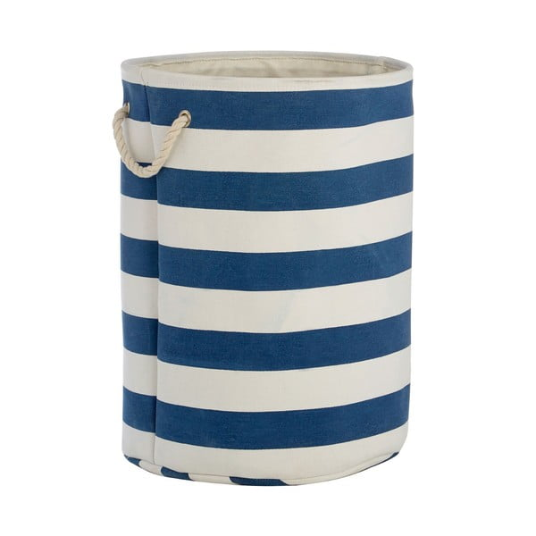 Coș de rufe Premier Housewares Sailor, 69 l, alb-albastru