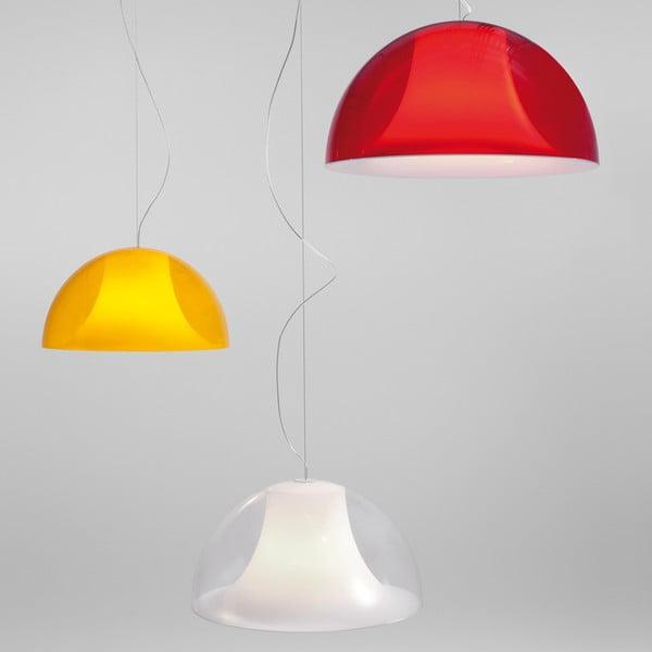 Závěsné světlo L002S/BA, transparentní červená