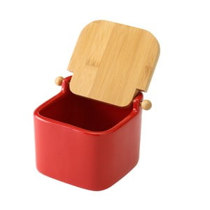 Červená keramická slánka Unimasa, 750 ml