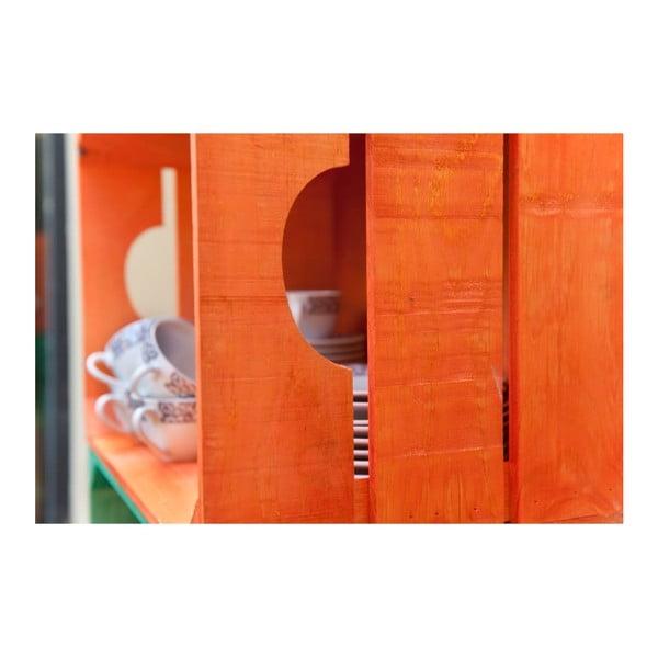 Rustikální dřevěná bedýnka Really Nice Things, oranžová