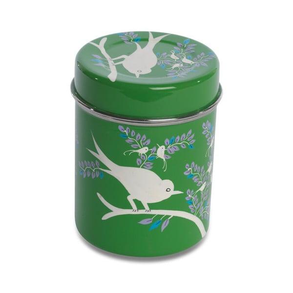 Dóza Eva Hand Painted Tea Tin, zelená
