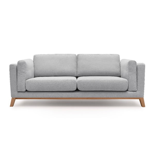 Jasnoszara sofa 3-osobowa Bobochic Paris Enjoy