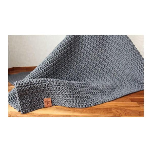 Háčkovaný koberec Catness, šedý, 150x200 cm