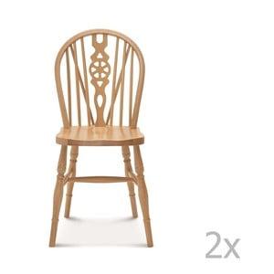 Set 2 scaune de lemn Fameg Ib