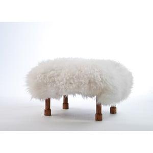 Stolička z ovčí kůže Delyth Ivory