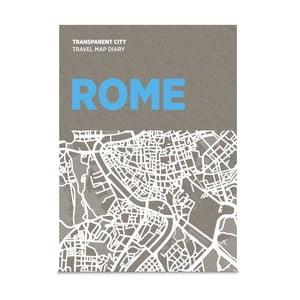 Jurnal pentru notițe pe hartă Palomar Transparent City Roma