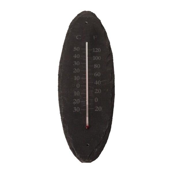 Kültéri fali hőmérő palakőből, 30 x 10 cm - Ego Dekor