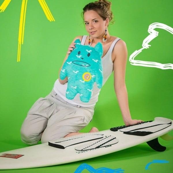 Plyšák Craftholic Surf Korat, velikost Junior (42x40 cm)