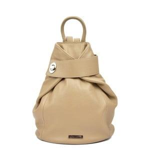 Béžový dámský kožený batoh Anna Luchini Lismo