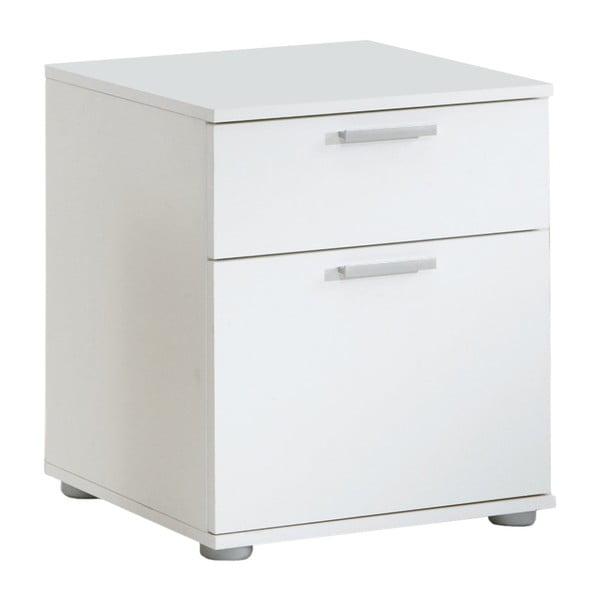 Bílý noční stolek se 2 zásuvkami 13Casa Jack