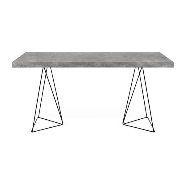 Pracovní stůl v dekoru betonu s černým podnožím TemaHome Multi