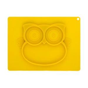 Žlutý silikonový tác pro děti Brandani Baby