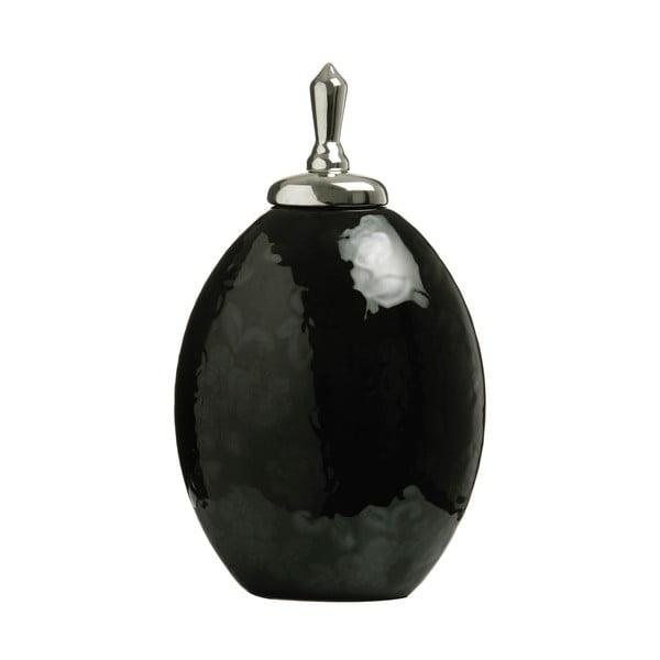 Velká keramická dóza, černá