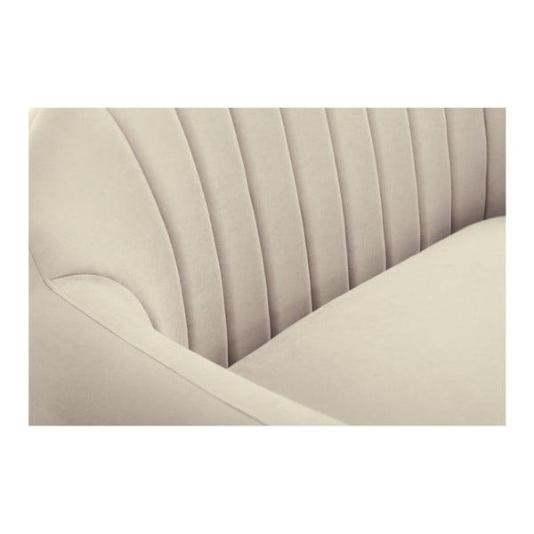 Béžová rohová trojmístná pohovka Scandi by Stella Cadente Maison, pravý roh