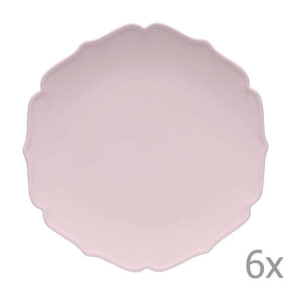 Sada 6 hlubokých talířů Glamour Rosa