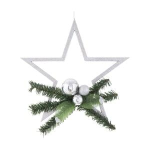 Decorațiune de Crăciun Ixia Pine, argintiu
