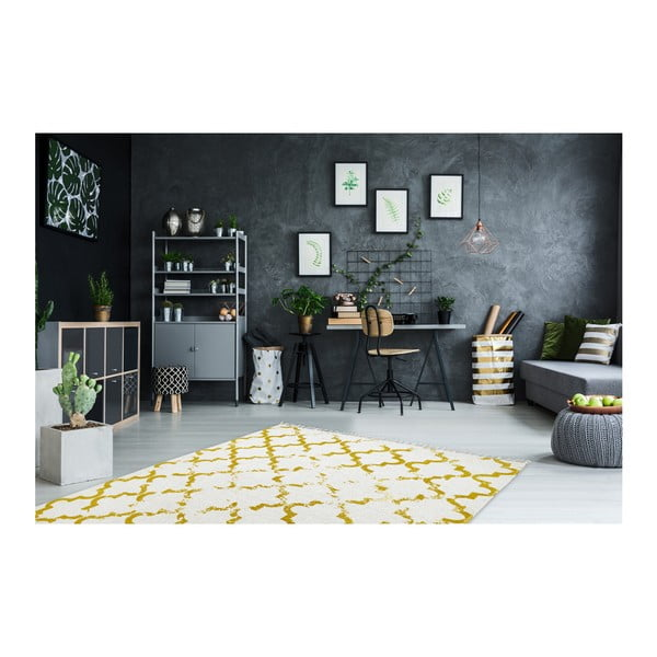 Ručně tkaný bavlněný koberec Obsession My Stockholm Must, 60 x 110 cm