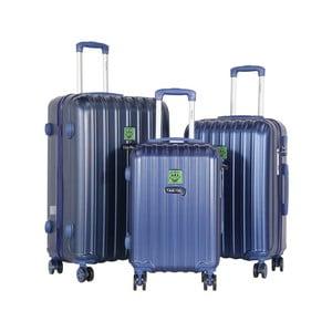Sada 3 tmavě modrých cestovních kufrů LULU CASTAGNETTE Edge