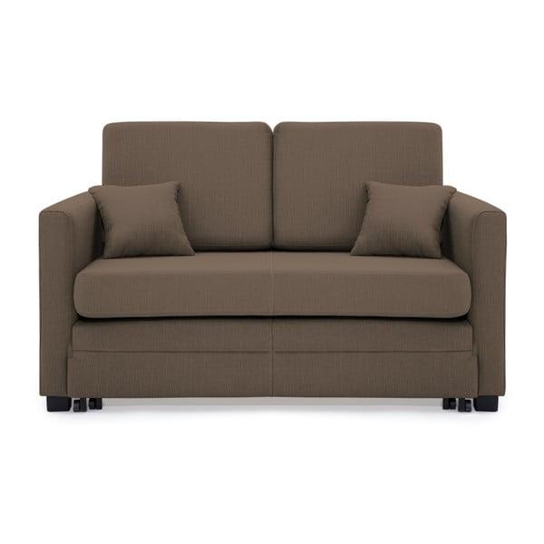 Brent világosbarna kétszemélyes kinyitható kanapé - Vivonita