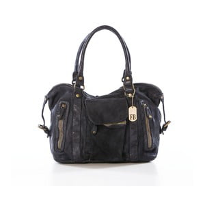 Černá kabelka z pravé kůže Federica Bassi Sass