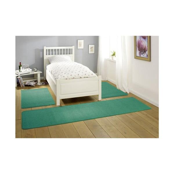 Zelenomodrý koberec Nasty, 80x200 cm