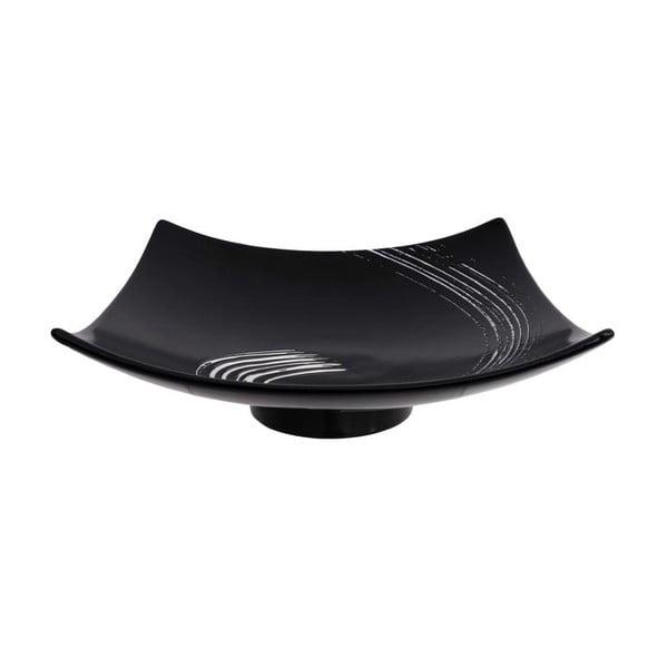 Černý čtvercový talíř Tokyo Design Studio Maru, 25,4x25,4cm