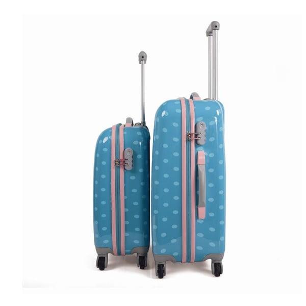 Sada 2 cestovních kufrů v tyrkysové barvě SKPA-T
