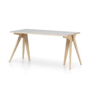 Šedý psací stůl Devoto Moody