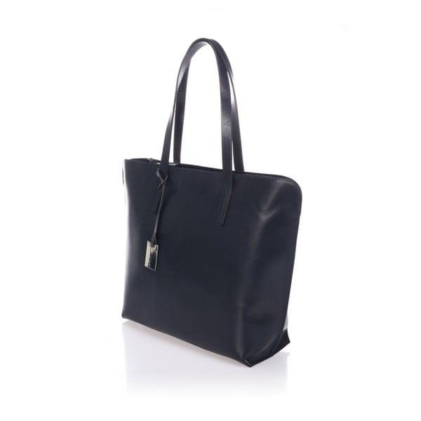 Tmavě modrá kožená kabelka Giorgio Costa Gerogina
