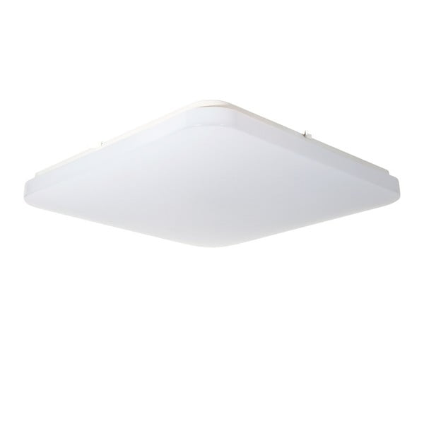 Biała lampa sufitowa z nastawieniem temperatury światła SULION, 33x33 cm
