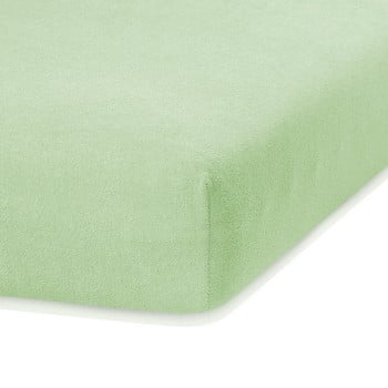 Cearceaf elastic AmeliaHome Ruby, 200 x 160-180 cm, verde deschis de la AmeliaHome