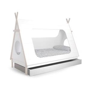 Bílá zásuvka pod postel De Eekhoorn Tipi