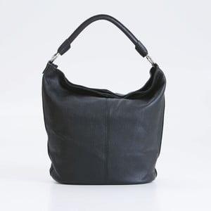 Černá kožená kabelka Pia Sassi Milan
