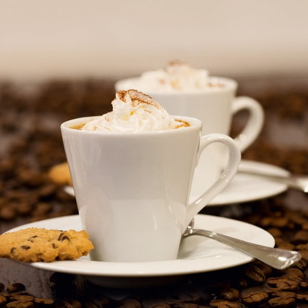 Skleněný obraz Coffee Cream, 30x30 cm