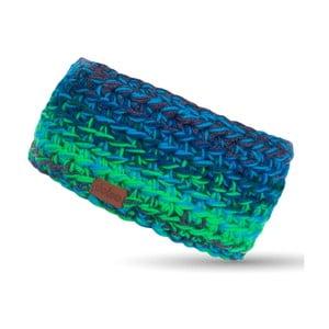 Modro-zelená ručně háčkovaná čelenka DOKE Ric