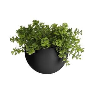 Matně černý nástěnný keramický květináč PT LIVING Globe