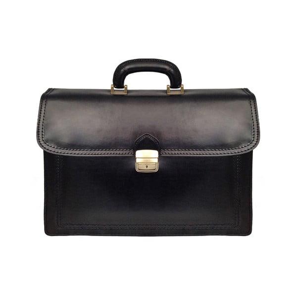 Kožený kufřík Cannonau, černý