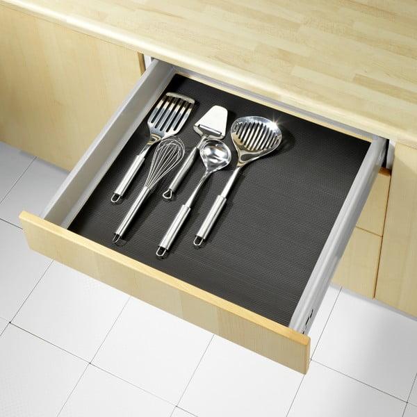 Folie antialunecare pentru sertar Wenko Anti Slip, 150 x 50 cm, negru