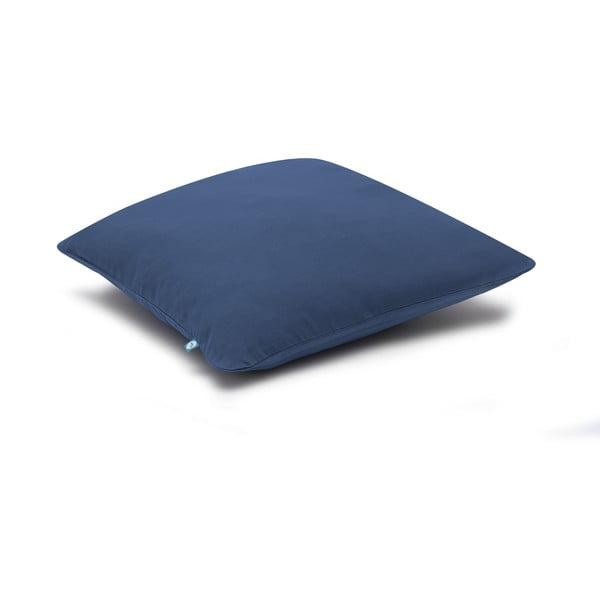 Námornícky modrá obliečka na vankúš Mumla Basic, 40×40 cm