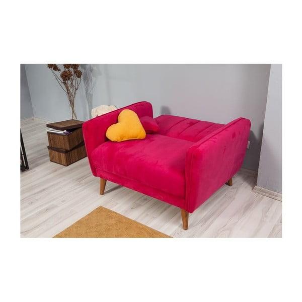 Růžové rozkládací křeslo Sifi