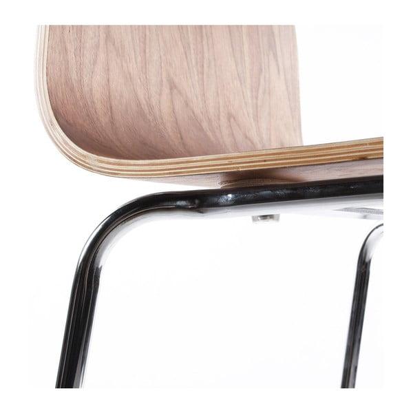 Barová židle se sedákem v dekoru ořechového dřeva Kokoon Cobe, výška sedu74cm