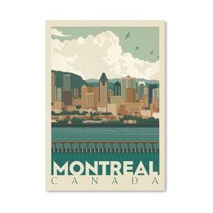 Plakát Americanflat Montreal Skyline, 42 x 30 cm