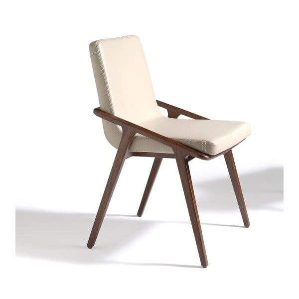 Krémovobiela jedálenská stolička Ángel Cerdá charite